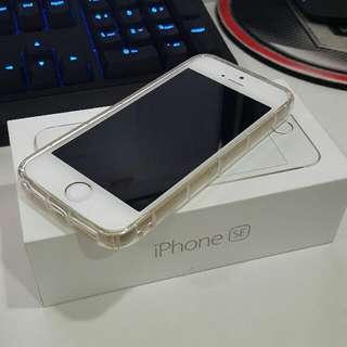 可議價 IPhone SE 16G 金 ,二手。