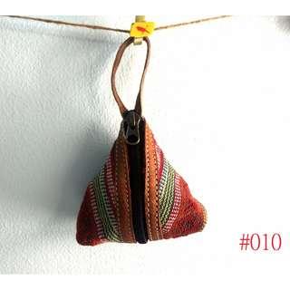 尼泊爾手工民族風編織水牛皮粽子零錢包