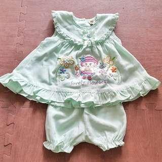 1set Baju Anak Cewe 1Th