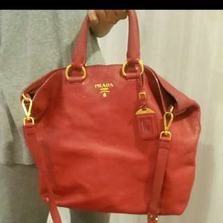 Authentic Preloved Prada Bag BN 1713 Rosso