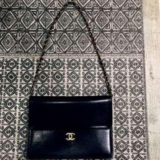 Chanel 金鍊 古董包 雙c logo 金釦 鏈條 經典 復古 情人節 禮物 名牌包 香奈兒
