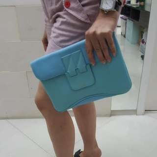 Blue Clutch Hermes