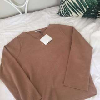 ZARA Trafuluc Brown Sweater