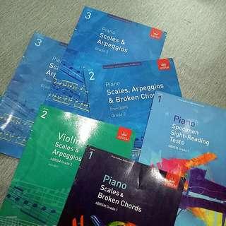 Piano Practical Abrsm Exam Pieces Scales Book