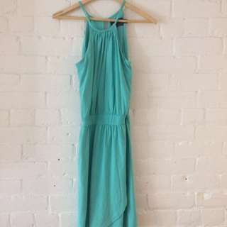 Teal authentic Cynthia Rowley halter dress