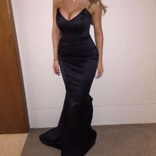 RENTING ONLY!! Black Custom Maid Mermaid Dress