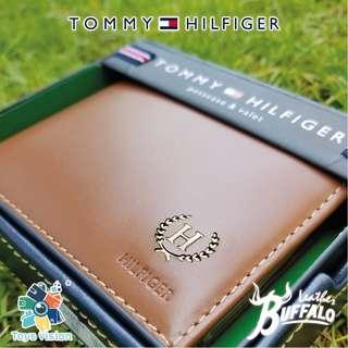 全新 Tommy Hilfiger Men's Buffalo Leather Wallet, Tan 真水牛皮銀包