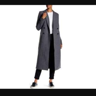 James Perse LA - Women's Gray Double Breasted Fleece Overcoat