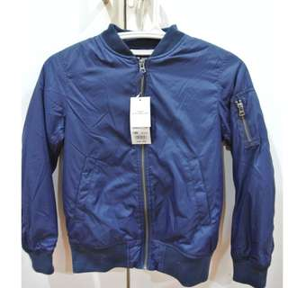 Uniqlo Kids Size 140 Navy Blue Durable Water Repellency Jacket