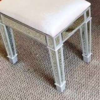 NEW IN BOX - ARRIVED YESTERDAY - IVORY TOP - NEW RELEASE 2017 BOUDOIR STOOL
