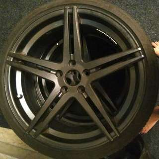 3 Rims And Tyres For 5x112