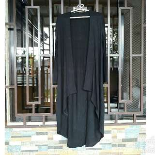 Black Long Back style long cardigan