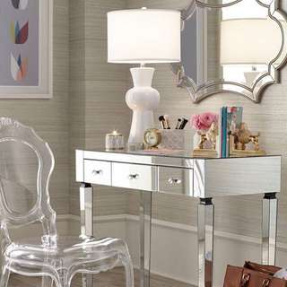 NEW IN BOX - 3 DRAWER SHIMMY MIRROR DESK