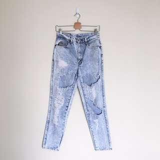 Acid Wash Vintage Boyfriend Jeans