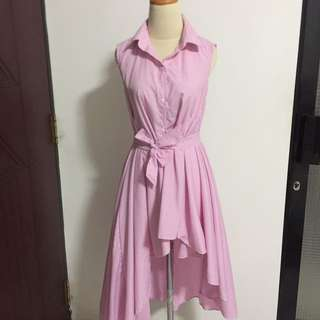 pink stripe dress (bisa dilepas ikat pinggang nya)