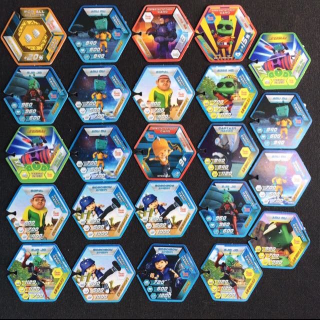24 Pcs Boboiboy Galaxy Wars Augmented Reality Caracters Cards Toys