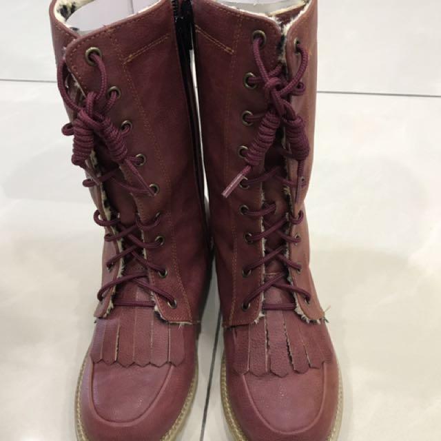 全新女童高筒靴