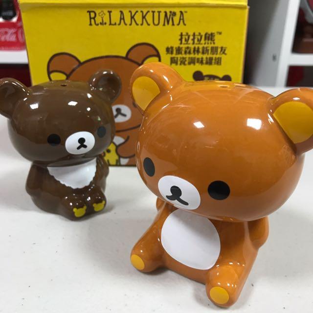 拉拉熊*茶小熊🐻陶瓷調味罐組
