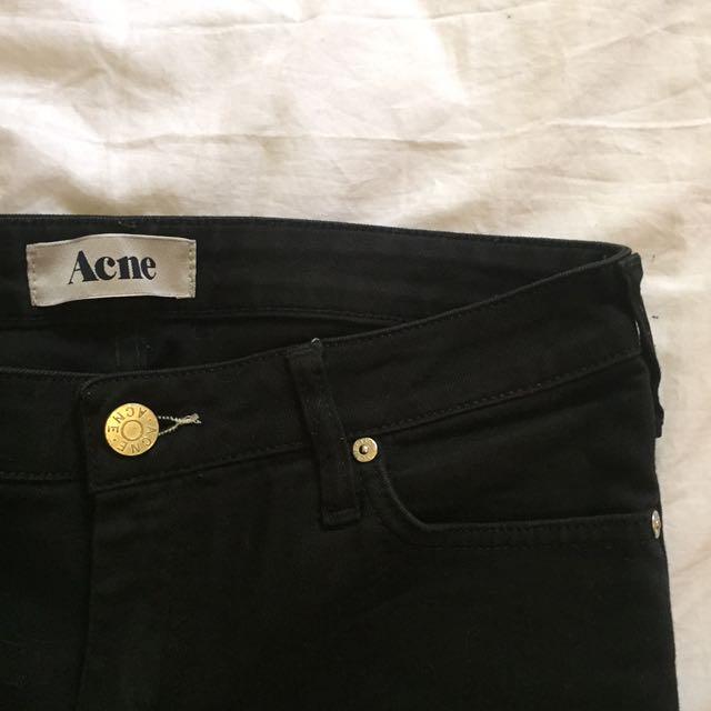 ACNE black jeans