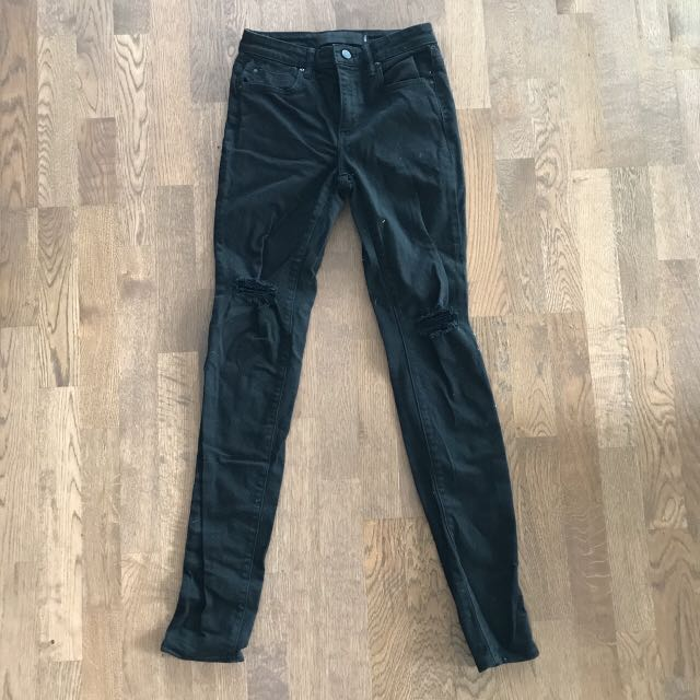 Alexander Wang Denim Lack Ripped-knee Skinny Jeans