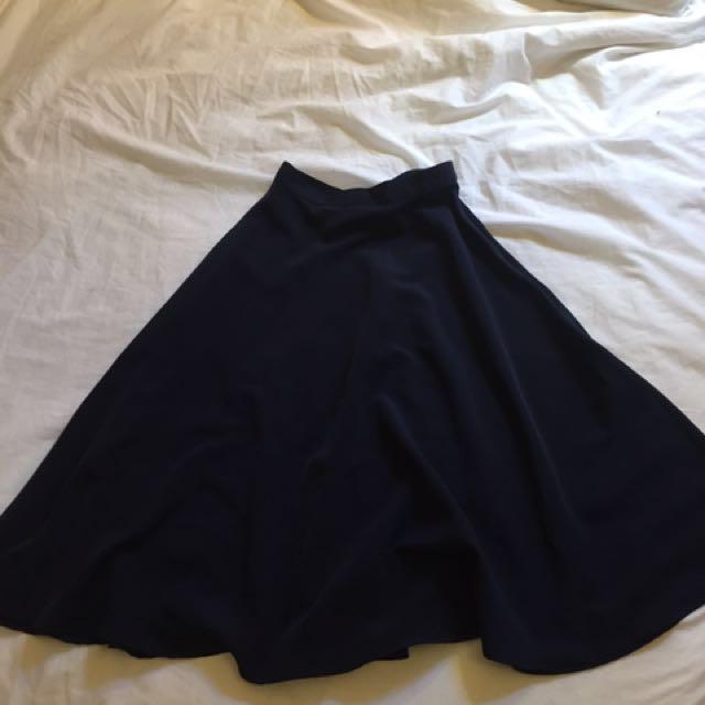 American Apparel midi circle skirt