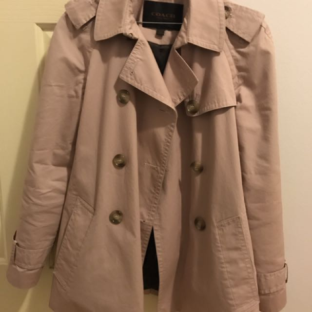Authentic Coach Trench Coat Mauve Size S