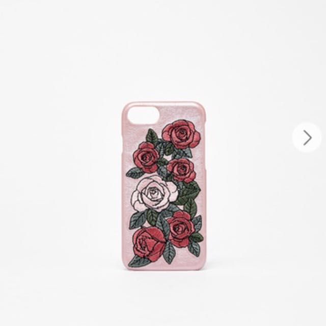 new product 53ba0 e8543 Bershka Embroidered rose iPhone 6+/7+ case