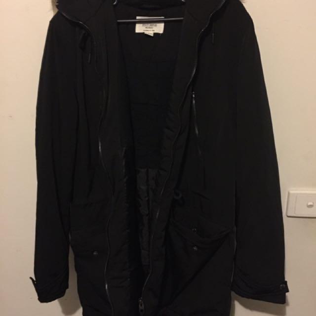 Black fur jacket SO WARM