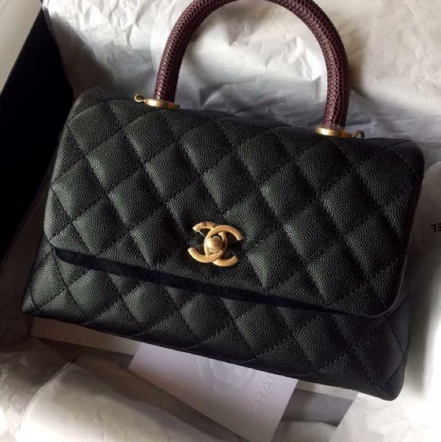 33ae9fbefab5 BN Chanel Coco Handle With Lizard GHW, Luxury, Bags & Wallets on ...