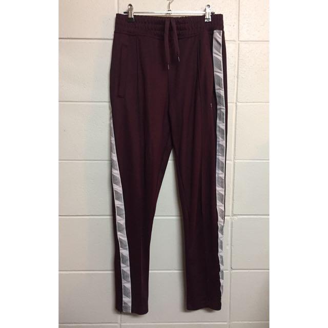 Maroon Track Pants