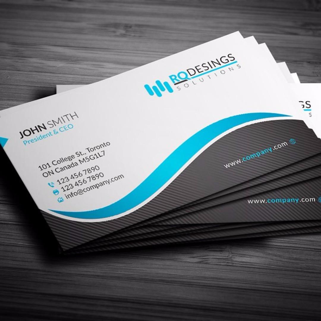 Business Card / Namecard / Design / Laptop / Computer / Phone / Shop ...