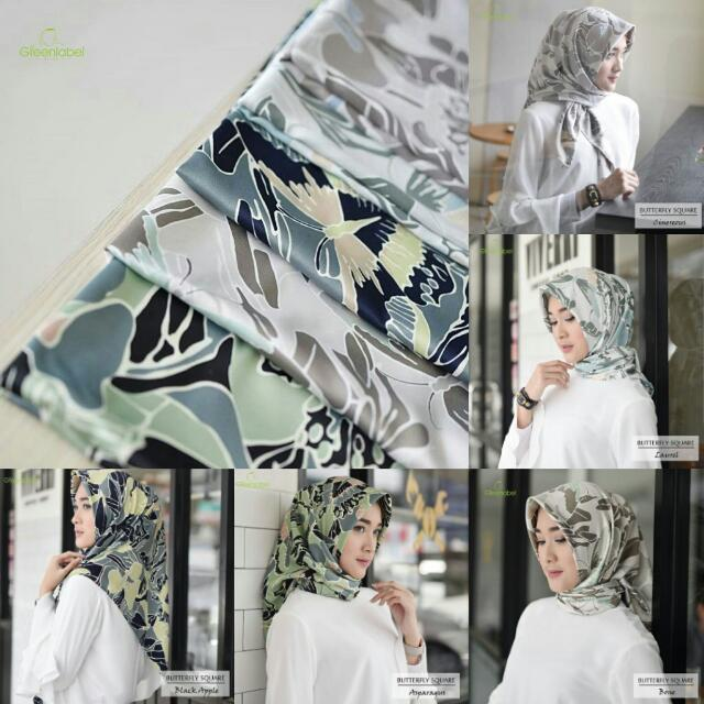 Butterfly Maxmara Square by Green label Hijab