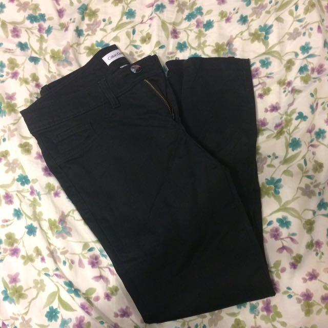 Calvin Klein Black Formal Tight Pants