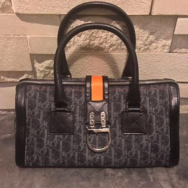 cheap for discount ab6b7 7c552 Christian Dior Flight Line Trotter Denim Boston Bag, Luxury ...