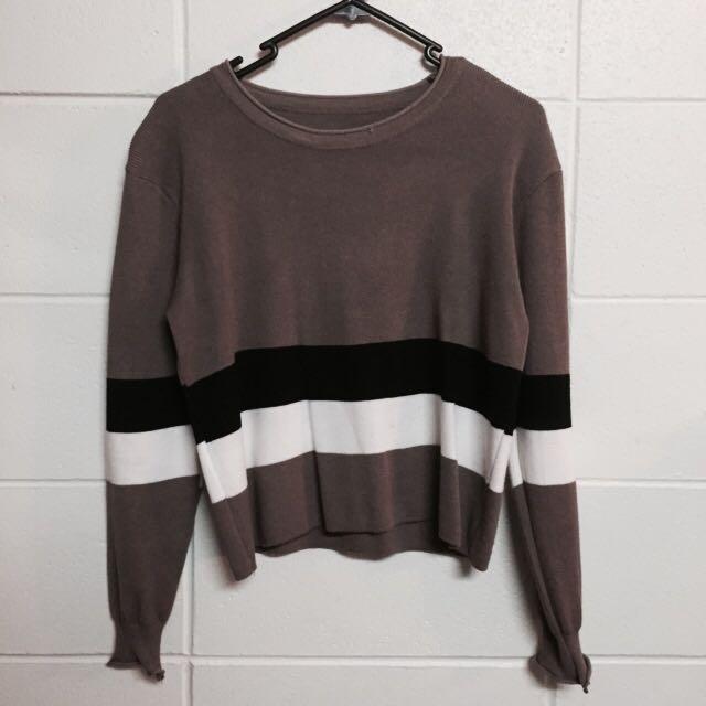 Coffee Striped Sweater