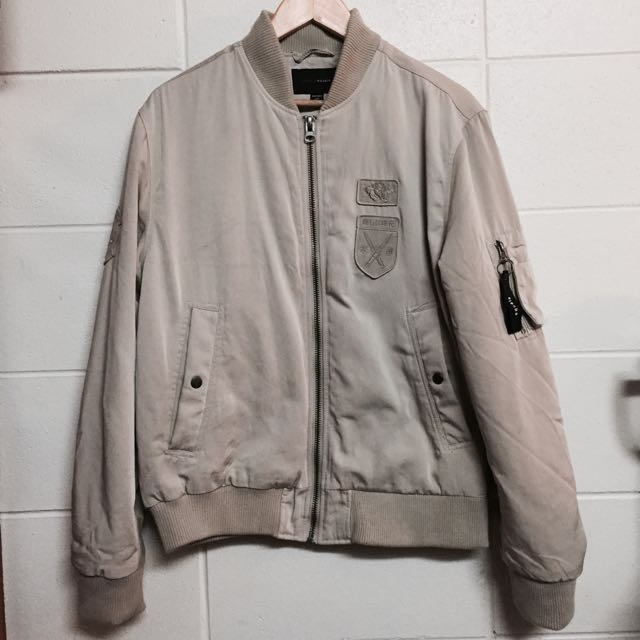 Cream Bomber Jacket