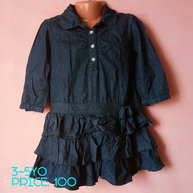 Denim Dress For Kids