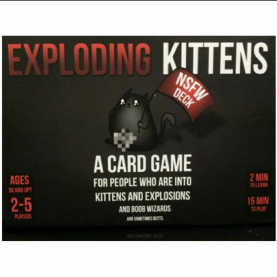 """Games Exploding Kittens NSFW Edition Explicit Content - ADULTS ONLY Toys /"""""""