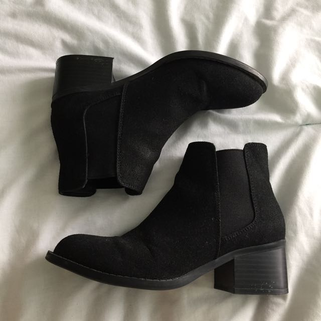 F21 suede boots
