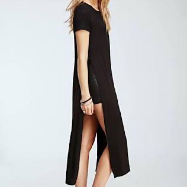 FOREVER 21 High-Slit Shirt Dress Authentic