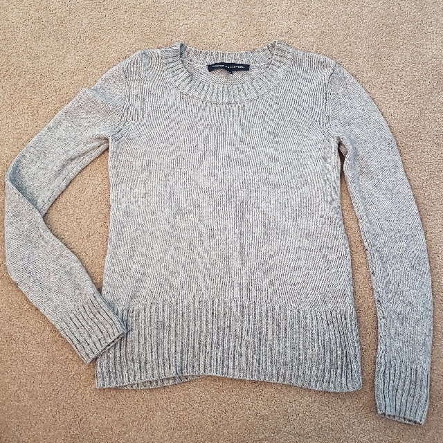 French Connection Grey Marle Knit Sz M 10-12