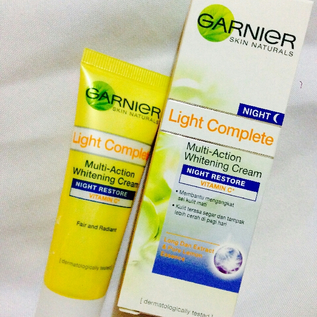 Garnier Lemon Night Cream