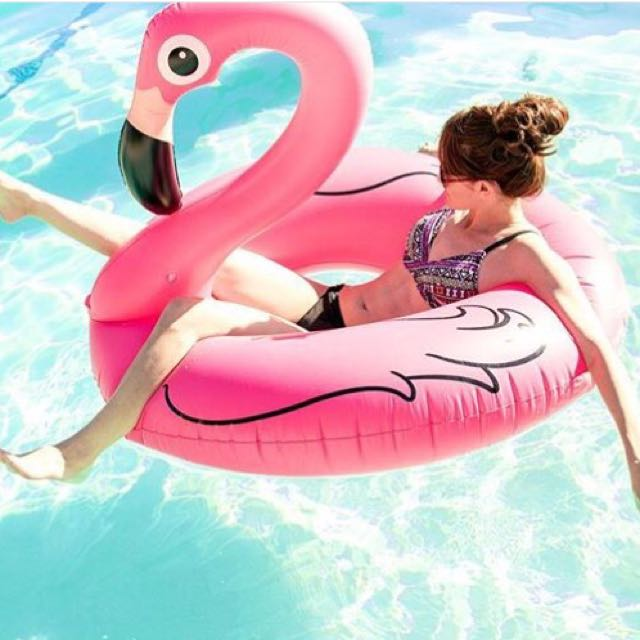 Giant Pink Flamingo Floaty