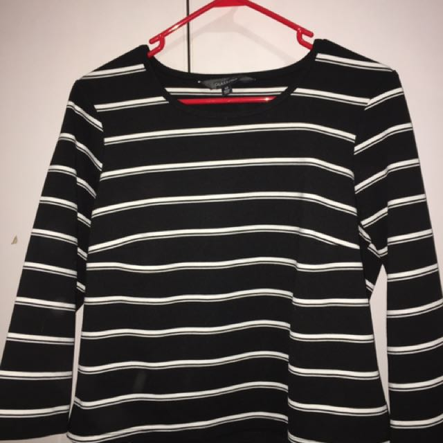Glassons striped crop shirt