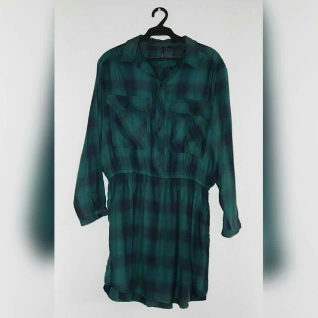 Green Flannel Dress