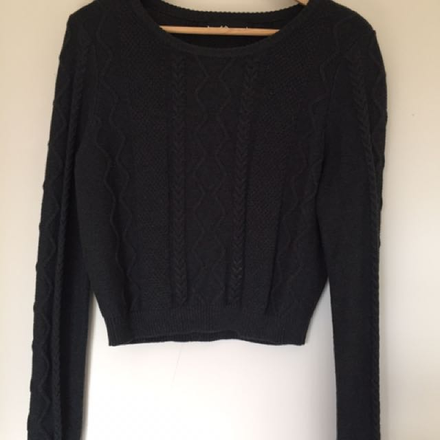 Grey cable knit sweater DANGERFIELD 14