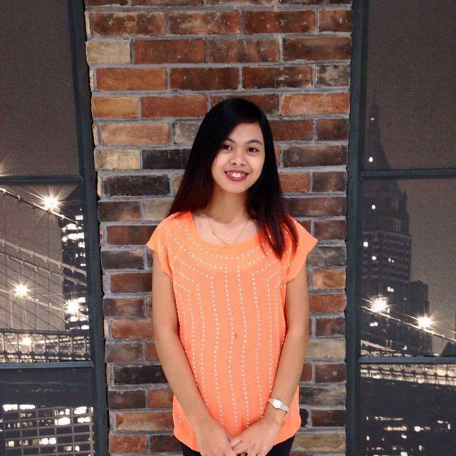 Human Neon Orange top
