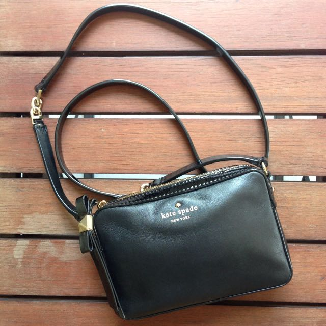 Kate Spade Highliner Clover Sling Bag in Black