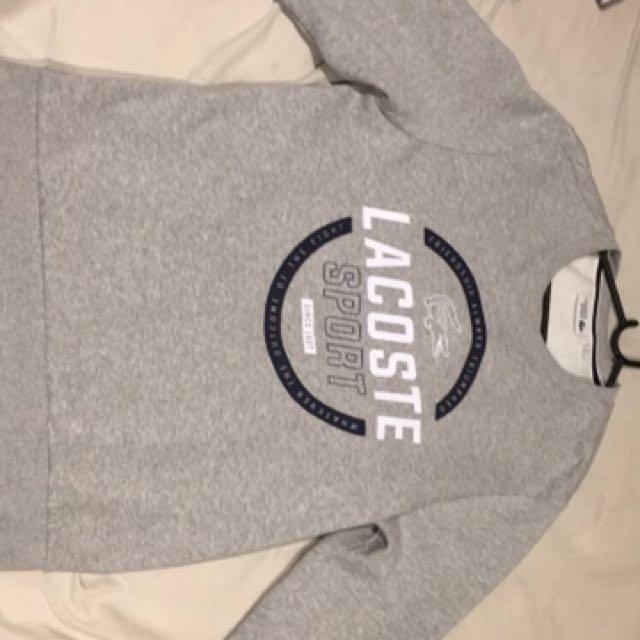 Lacoste jumper grey Large