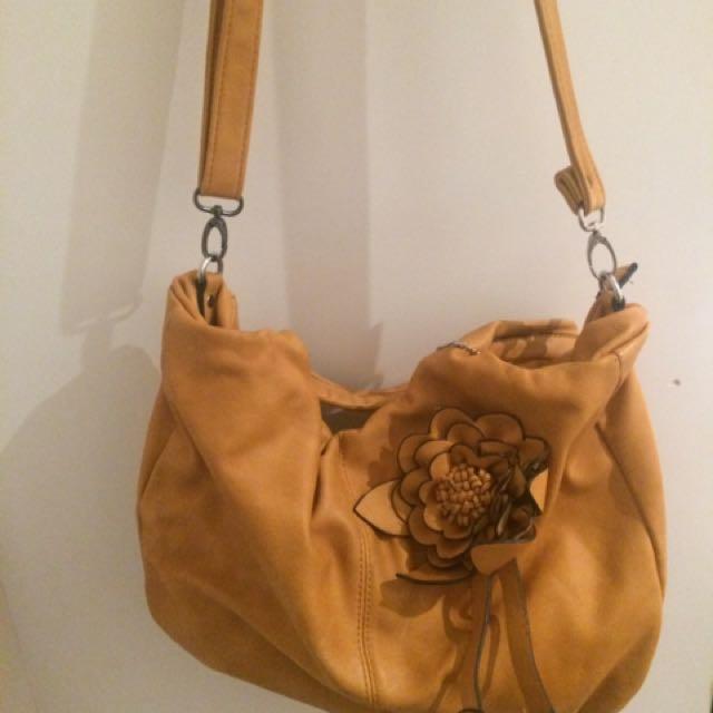 Large Mustard Handbag